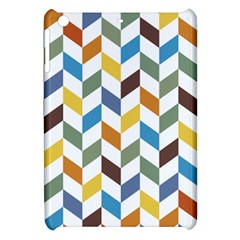 Zigzag Chevron Pattern Orange Blue Apple Ipad Mini Hardshell Case by snowwhitegirl