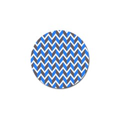 Zigzag Chevron Pattern Blue Grey Golf Ball Marker (4 Pack) by snowwhitegirl