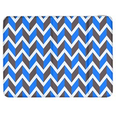 Zigzag Chevron Pattern Blue Grey Samsung Galaxy Tab 7  P1000 Flip Case by snowwhitegirl