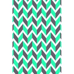 Zigzag Chevron Pattern Green Grey 5 5  X 8 5  Notebooks by snowwhitegirl