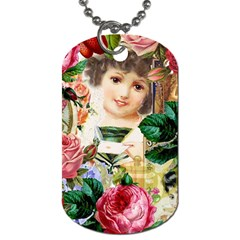 Little Girl Victorian Collage Dog Tag (two Sides) by snowwhitegirl