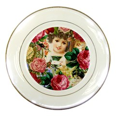 Little Girl Victorian Collage Porcelain Plates