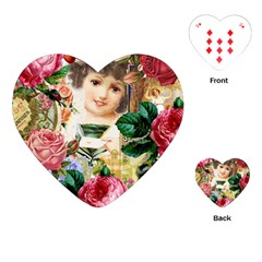 Little Girl Victorian Collage Playing Cards (heart)  by snowwhitegirl
