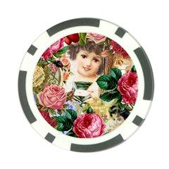 Little Girl Victorian Collage Poker Chip Card Guard by snowwhitegirl