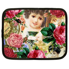Little Girl Victorian Collage Netbook Case (large) by snowwhitegirl