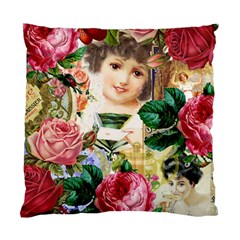 Little Girl Victorian Collage Standard Cushion Case (two Sides) by snowwhitegirl