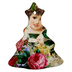 Little Girl Victorian Collage Christmas Tree Ornament (two Sides) by snowwhitegirl
