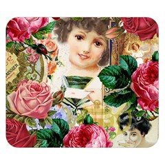 Little Girl Victorian Collage Double Sided Flano Blanket (small)  by snowwhitegirl