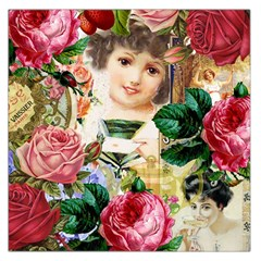 Little Girl Victorian Collage Large Satin Scarf (square) by snowwhitegirl