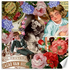 Victorian Collage Canvas 20  X 20   by snowwhitegirl