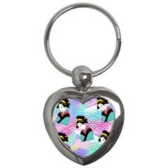 Japanese Abstract Key Chains (heart)  by snowwhitegirl