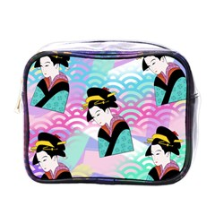 Japanese Abstract Mini Toiletries Bag (one Side) by snowwhitegirl