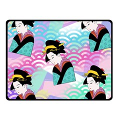 Japanese Abstract Double Sided Fleece Blanket (small)  by snowwhitegirl