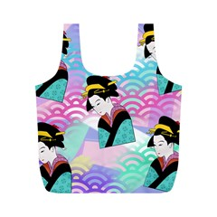 Japanese Abstract Full Print Recycle Bag (m) by snowwhitegirl