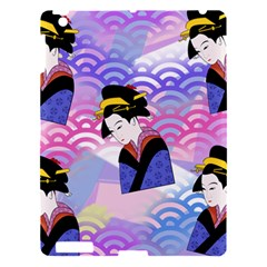 Japanese Abstract Blue Apple Ipad 3/4 Hardshell Case by snowwhitegirl