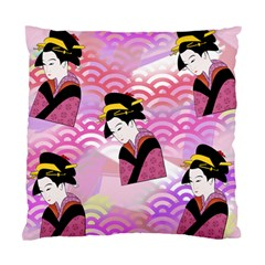 Japanese Abstract Pink Standard Cushion Case (two Sides) by snowwhitegirl