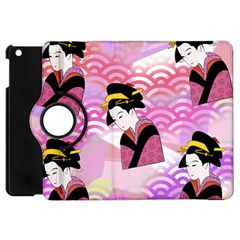 Japanese Abstract Pink Apple Ipad Mini Flip 360 Case by snowwhitegirl