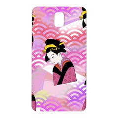 Japanese Abstract Pink Samsung Galaxy Note 3 N9005 Hardshell Back Case by snowwhitegirl