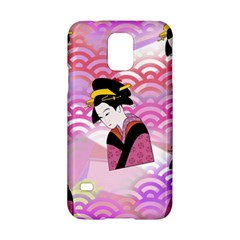 Japanese Abstract Pink Samsung Galaxy S5 Hardshell Case  by snowwhitegirl