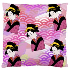 Japanese Abstract Pink Standard Flano Cushion Case (one Side) by snowwhitegirl