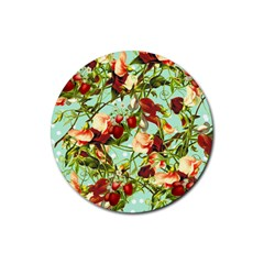 Fruit Blossom Rubber Round Coaster (4 Pack)
