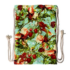 Fruit Blossom Drawstring Bag (large) by snowwhitegirl