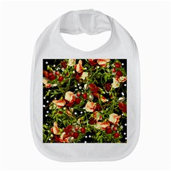 Fruit Blossom Black Bib by snowwhitegirl