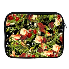 Fruit Blossom Black Apple Ipad 2/3/4 Zipper Cases by snowwhitegirl