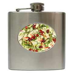 Fruit Blossom Beige Hip Flask (6 Oz) by snowwhitegirl