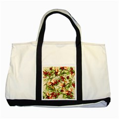 Fruit Blossom Beige Two Tone Tote Bag by snowwhitegirl