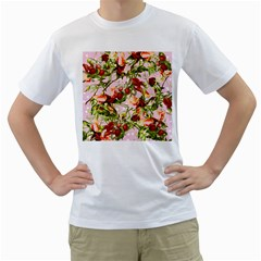Fruit Blossom Pink Men s T Shirt (white) (two Sided) by snowwhitegirl