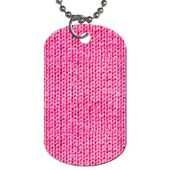 Knitted Wool Bright Pink Dog Tag (one Side) by snowwhitegirl
