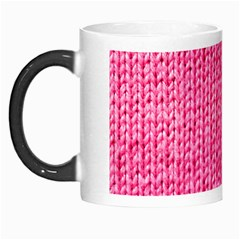 Knitted Wool Bright Pink Morph Mugs by snowwhitegirl