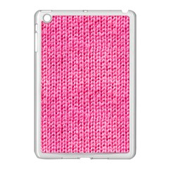 Knitted Wool Bright Pink Apple Ipad Mini Case (white) by snowwhitegirl