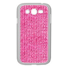Knitted Wool Bright Pink Samsung Galaxy Grand Duos I9082 Case (white) by snowwhitegirl