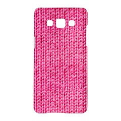 Knitted Wool Bright Pink Samsung Galaxy A5 Hardshell Case  by snowwhitegirl