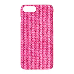 Knitted Wool Bright Pink Apple Iphone 8 Plus Hardshell Case by snowwhitegirl