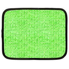 Knitted Wool Neon Green Netbook Case (large) by snowwhitegirl