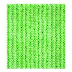 Knitted Wool Neon Green Shower Curtain 66  X 72  (large)  by snowwhitegirl