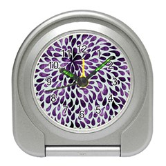 Purple Abstract Swirl Drops Travel Alarm Clock by snowwhitegirl