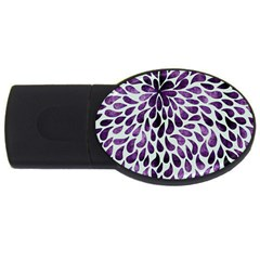 Purple Abstract Swirl Drops Usb Flash Drive Oval (4 Gb) by snowwhitegirl