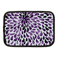 Purple Abstract Swirl Drops Netbook Case (medium) by snowwhitegirl