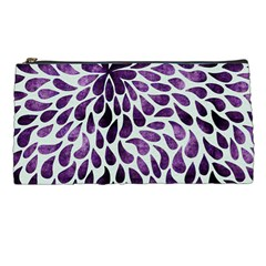 Purple Abstract Swirl Drops Pencil Cases