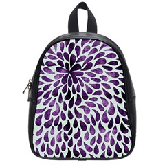 Purple Abstract Swirl Drops School Bag (small) by snowwhitegirl