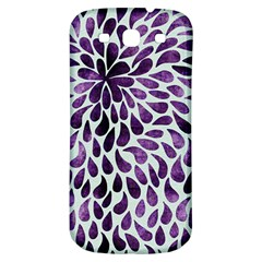 Purple Abstract Swirl Drops Samsung Galaxy S3 S Iii Classic Hardshell Back Case