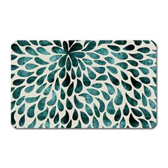 Teal Abstract Swirl Drops Magnet (rectangular) by snowwhitegirl
