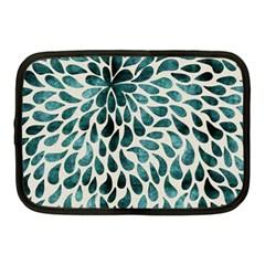 Teal Abstract Swirl Drops Netbook Case (medium) by snowwhitegirl