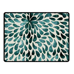 Teal Abstract Swirl Drops Fleece Blanket (small) by snowwhitegirl