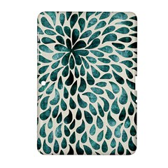 Teal Abstract Swirl Drops Samsung Galaxy Tab 2 (10 1 ) P5100 Hardshell Case