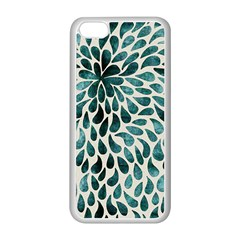 Teal Abstract Swirl Drops Apple Iphone 5c Seamless Case (white) by snowwhitegirl